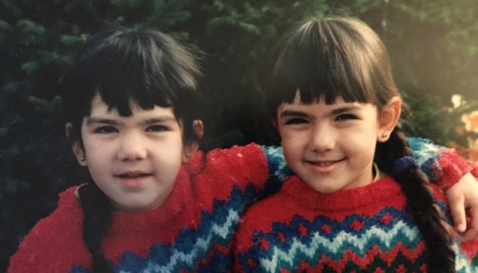 BARNDOM: Selda med lillesøsteren Pinar. FOTO: Privat