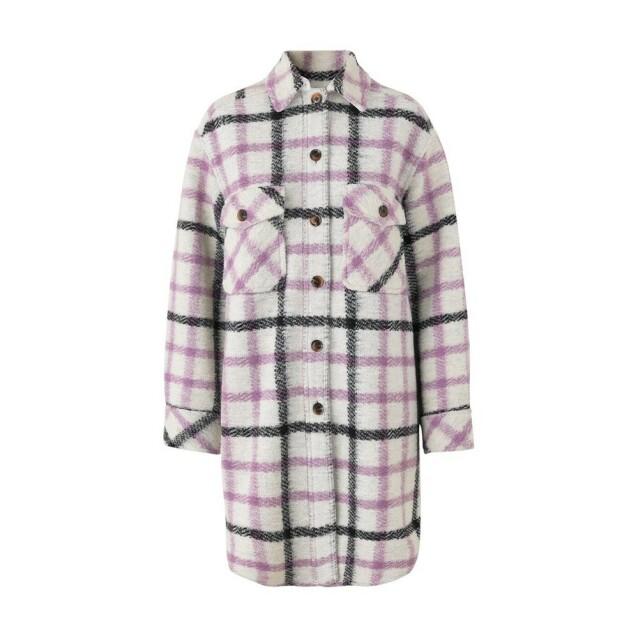 Rutete jakke fra Samsøe Samsøe via Bubbleroom