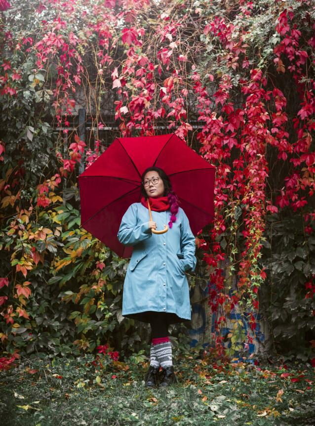 POKERKLUBB: Kaja hevder hun startet pokerklubb for å skape et miljø som inkluderte alle - og for å dyrke sin største hobby. FOTO: Astrid Waller