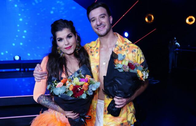 <strong>PÅ PARKETTEN:</strong> I september ble Kristin Gjelsvik og Catalin Mihu stemt ut av dansen. FOTO: Espen Solli / TV 2 / NTB