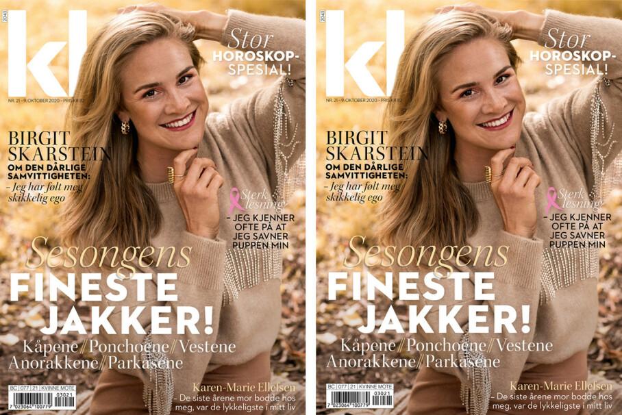 STJEL STILEN: Birgit Skarstein har til denne utgaven blitt stylet i plagg som gir den hverdagslige glam-en! Foto: Astrid Waller for KK