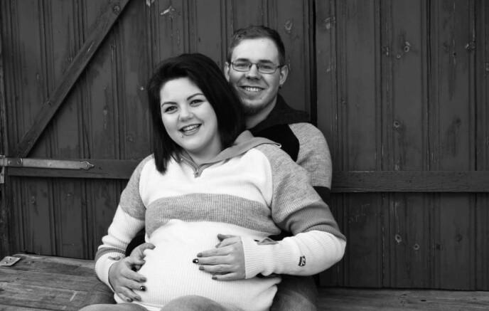 REDD FOR Å MISTE IGJEN: Først da hun var i svangerskapsuke 30 klarte Karoline å glede seg over graviditeten. FOTO: Privat