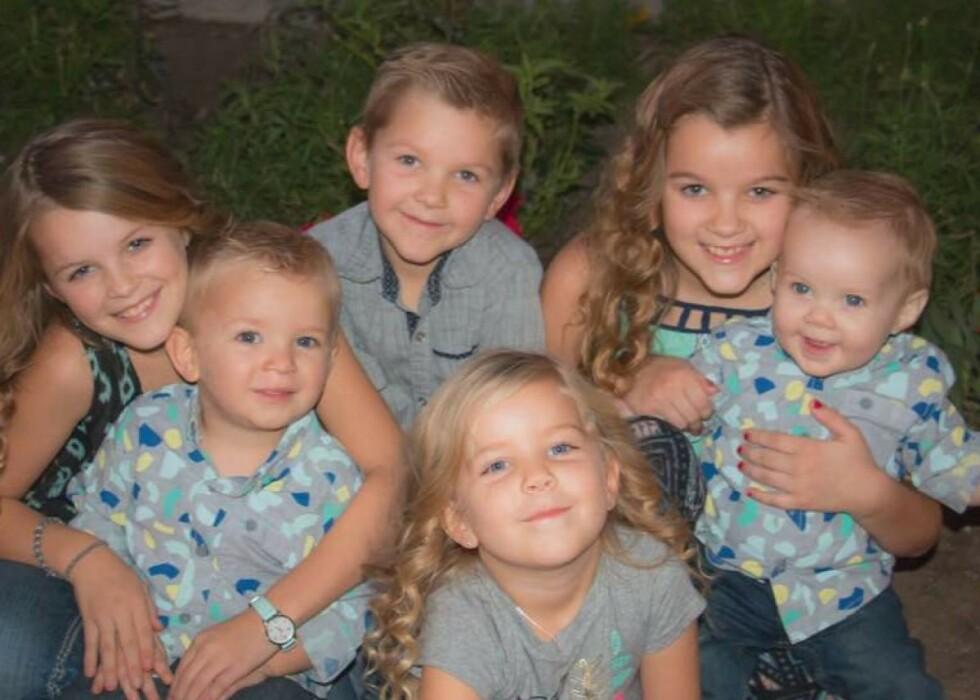 <strong>BILULYKKE:</strong> Fire av de seks Sparks-barna overlevde den fatale bilulykken som inntraff sommeren 2020 i New Mexico, USA. FOTO: Skjermdump GoFundMe