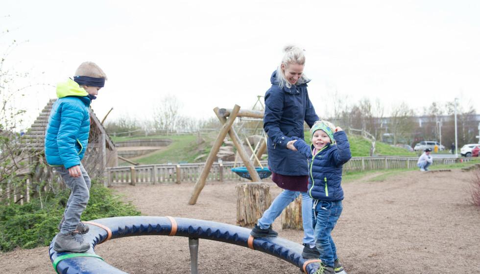 OVERSKUDD: Hanne har nå fått overskuddet tilbake til mann og barn. FOTO: Privat