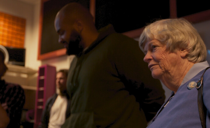 <strong>EGET MUSIKKSTUDIO:</strong> De innsatte i Halden fengsel har tilgang på et eget musikkstudio - noe som sjokkerer den tidligere britiske justisministeren Ann Widdecombe. FOTO: TV 2