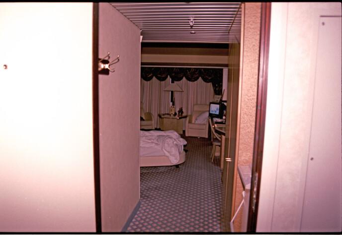 HOTELLROMMET: Bilde tatt i forbindelse med etterforskningen på rom 2805 på Oslo Plaza i 1995. FOTO: Netflix