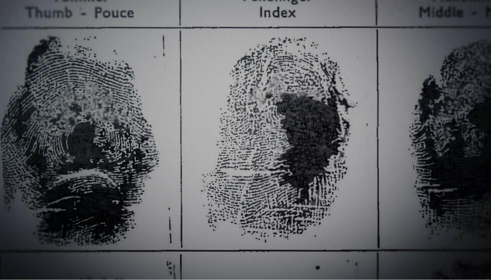 FINGERAVTRYKK: Den avdøde kvinnens fingeravtrykk. De har foreløpig ikke ledet til mer informasjon om hvem kvinnen kan være. FOTO: Netflix