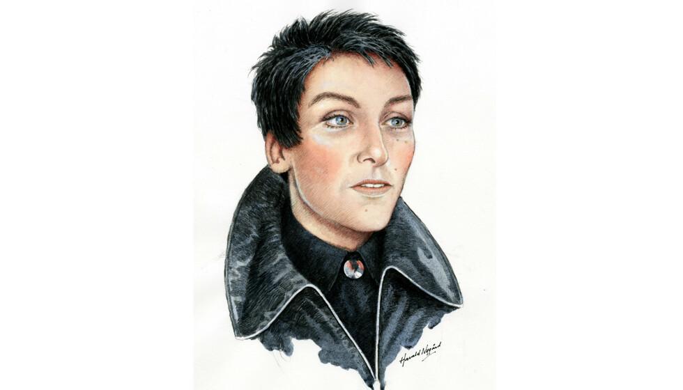 JENNIFER FAIRGATE: Den ukjente kvinnen sjekket seg inn på Oslo Plaza den aller siste dagen i mai 1995, under navnet Jennifer Fairgate. ILLUSTRASJON: Harald Nygård // Netflix