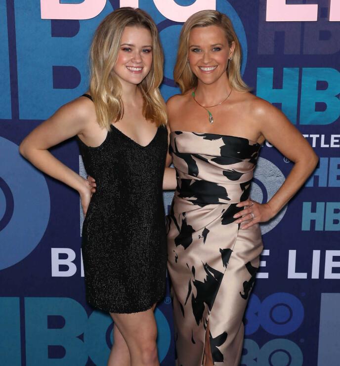 SKILT VED FØDSELEN: Reese Witherspoon og datteren Ava Phillippe er til forveksling like. FOTO: NTB