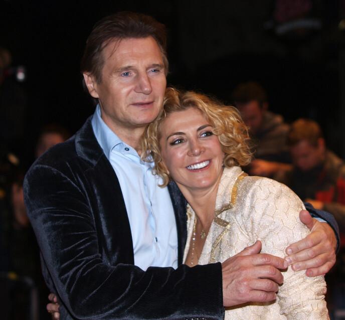GODE DAGER: Liam Neeson og hans kone, skuespiller Natasha Richardson under premieren på filmen «The Other Man». Siden rammet tragedien. Det som i 2009 først ble oppfattet som en mindre skiulykke påførte Natasha hodeskader som hun senere døde av. FOTO: NTB