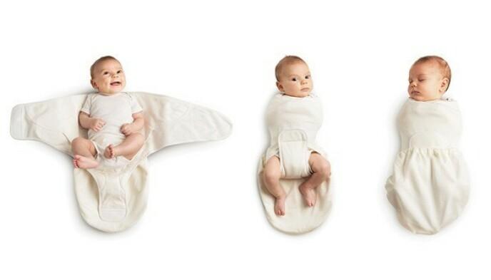 SVØPEPOSE: Det finnes også egne svøpeposer eller «swaddlers», som gjør det enkelt å pakke babyen inn riktig. Denne er fra Ergobaby. FOTO: Produsenten
