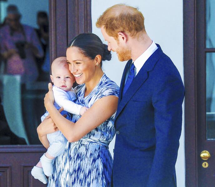 SØNNEN: I mai 2019 ble Meghan og Harry foreldre til lille Archie. Her fra en offisiell tilstelning da de ennå var en del av det britiske kongehuset. FOTO: NTB