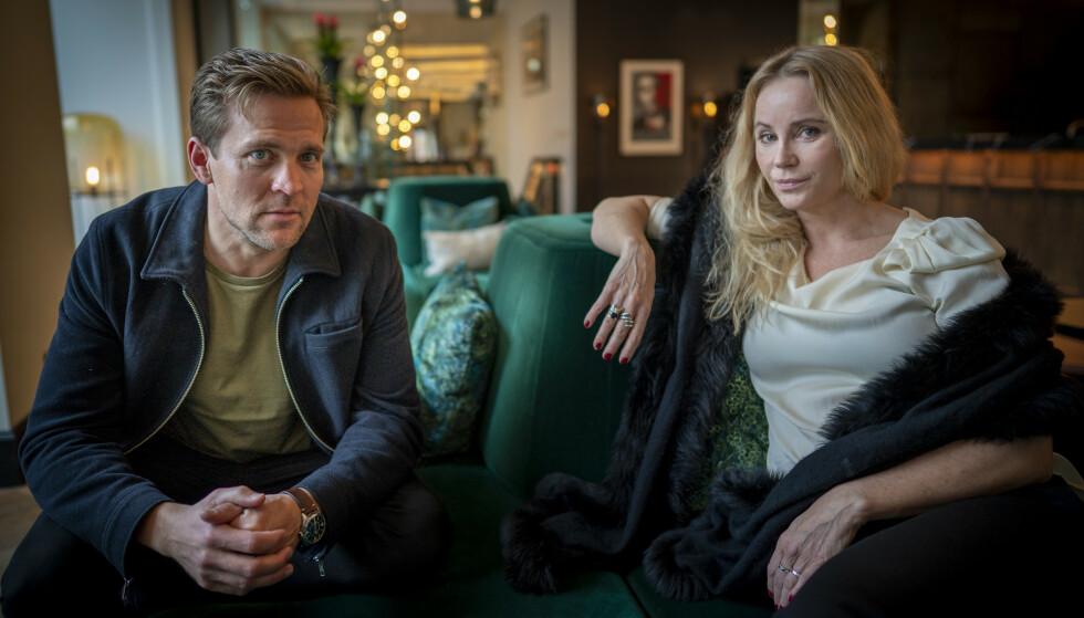 SERIEAKTUELLE: Skuespillerne Tobias Santelmann og Sofia Helin har hovedrollene i den norske storserien «Atlantic Crossing», som er inspirert av historien om kronprinsesse Märtha og hennes flukt til Amerika under andre verdenskrig. FOTO: Heiko Junge / NTB