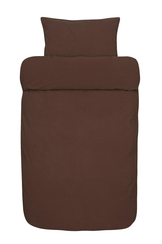 Rustrødt sengesett (kr 600, Høie). FOTO: Produsenten
