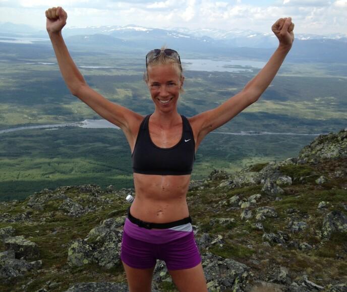 SPREK: Arret på brystet vitner om operasjonene Kari Anne spreke kropp har vært gjennom. FOTO: privat
