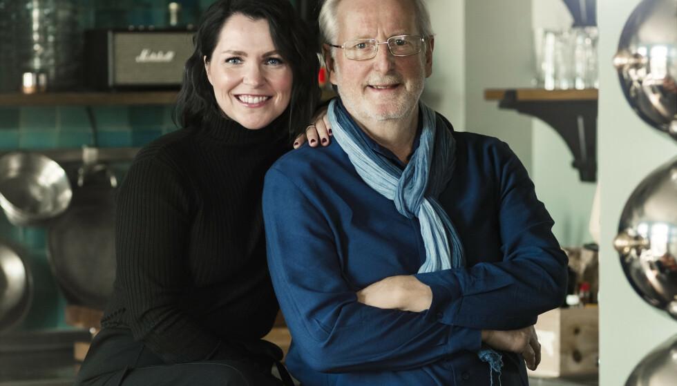 HELLSTRØM: Eyvind og Anita har vært samboere i fem år. Høsten 2020 er paret aktuell med boken kokeboken «Hellstrøms Hemmeligheter». FOTO: Astrid Waller