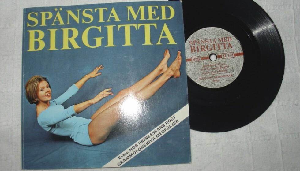 FUNN: Prinsessen Birgittas treningsprogram kan du for eksempel prøve å få kloa i på auksjonshuset tradera.com. FOTO: Tradera.com
