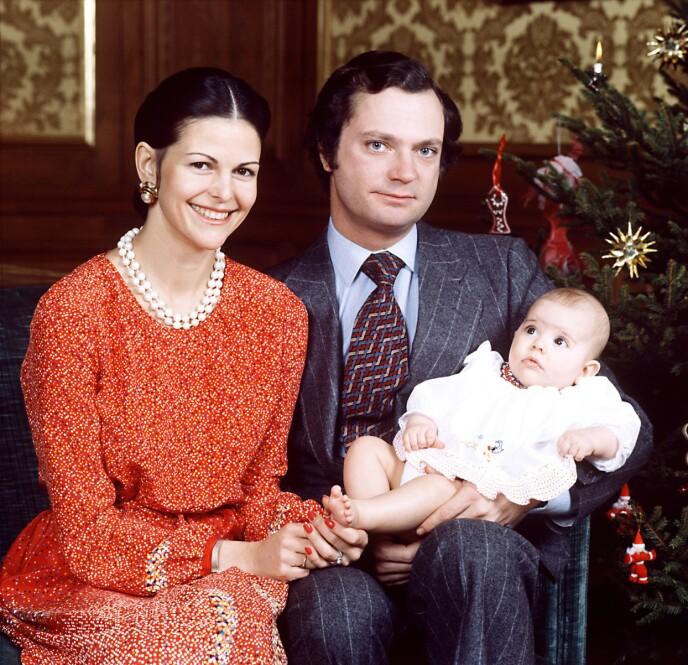 KVINNELIG ARVING: Silvia og Carl Gustaf, med sin førstefødte, kronprinsesse Victoria. Tanke Birgitta har bare godt å si om sin lille niese. FOTO: NTB