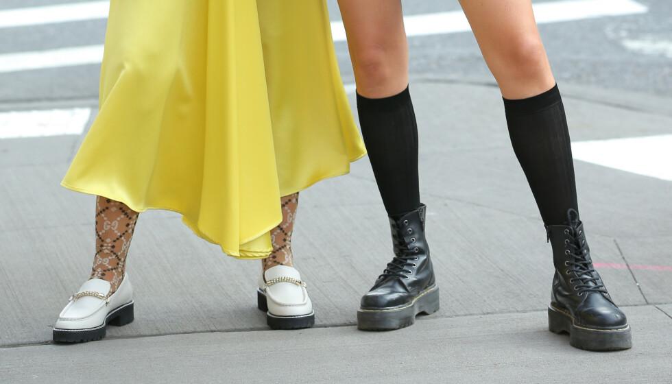 CHUNKY SKO: Bootsene du ser til høyre er blant de mest populære når det kommer til vintersko. Foto: NTB