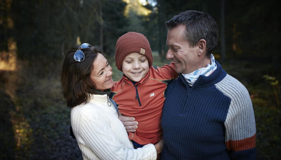 UNGE: Trine og Espen hadde bare vært sammen et år tid da fikk et alvorlig sykt barn. Trine ble rørt da en sykepleier minnet henne om det for noen år siden. FOTO: Geir Dokken