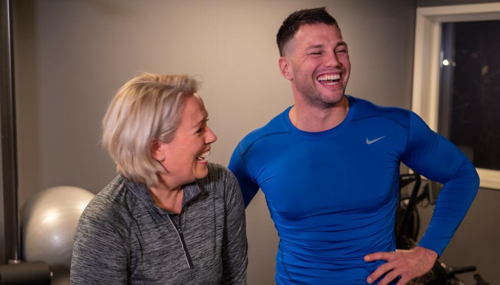 Lene Berg bestemte seg for å bruke personlig trener Stian for å komme i form. Hun trengte drahjelp. FOTO: Anders Rox Friberg