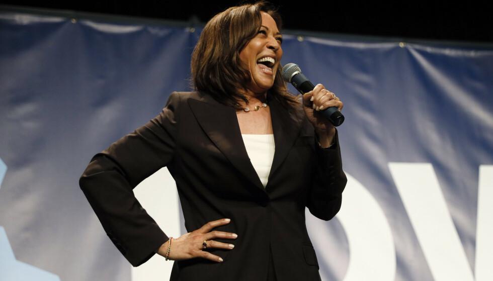 STØTTE: Kamala Harris stilte selv som presidentkandidat, men trakk seg og stilte seg siden bak Joe Bidens kandidatur. FOTO NTB: