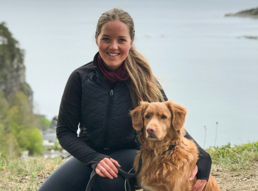 AKTIV: Trening er blitt mestring og de to hundene er Malin Sofies beste turvenner. FOTO: Privat