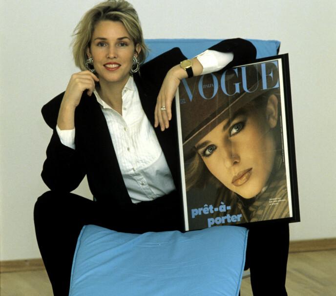 EXPORT: Norges første supermodell, Annette Stai, kom med sine renskårne trekk gjennom nåløyet, og havnet på coveret av Vogue. FOTO: Annemor Larsen/NTB