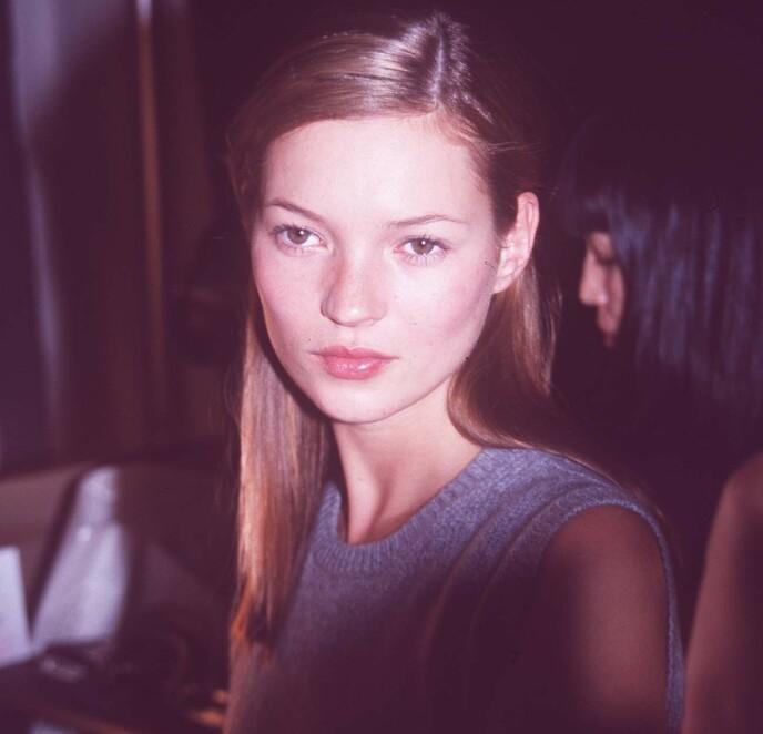 BRYNFIN: Kate Moss på Marc Jacobs Fashion Show i 1997. FOTO: NYB