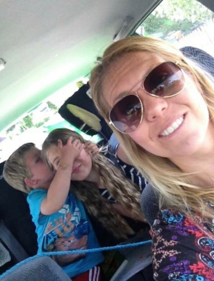 DET VERSTE: Mette sier at det mest utfordrende ved å bli syk, var å ikke strekke til som mor slik som hun ønsket. FOTO: Privat