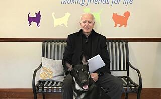 Joe Bidens hund blir historisk