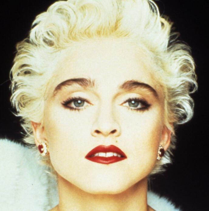 MARILY OG MADONNA: Madonna satte de mørke brynene på kartet, og mange var vi som bleket håret med hydrogenperoksid i håp om å få looken. Her fra 1987. FOTO: NTB
