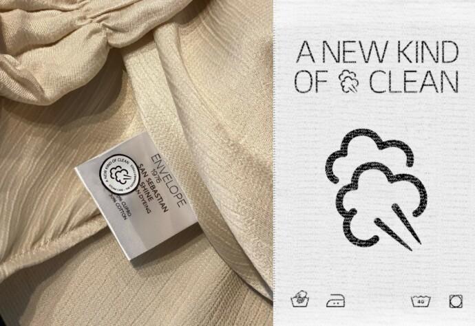 NYTT VASKESYMBOL: Det nye vaskesymbolet illustrerer damp, og kan lastes ned og benyttes gratis.