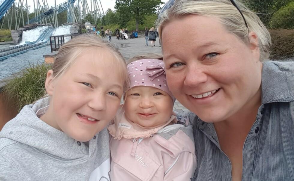 FØDT MED LEPPE-KJEVE-GANESPALTE: Mathilde og Oline er født med ulike grader av leppe-kjeve-ganespalte og har vært gjennom flere operasjoner. FOTO: Privat