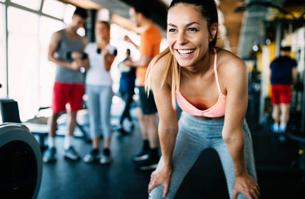 POSITIVE EFFEKTER: Bedre fordøyelse og godt humør er bare to gode grunner for å komme i gang med treningen. FOTO: NTB Scanpix