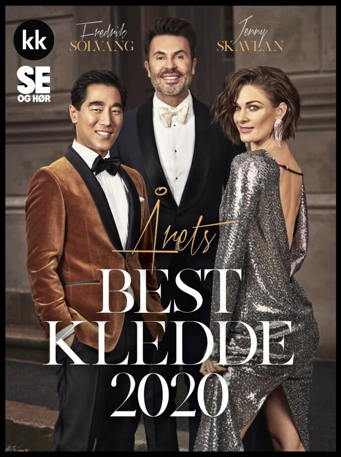 ÅRETS BEST KLEDDE: Jan Thomas har kåret Fredrik Solvang og Jenny Skavlan til årets best kledde kjendismann- og kvinne. Foto: Truls Qvale