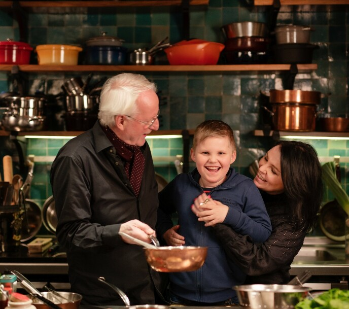 GLAD GJENG: Eyvind og Anita, sammen med Anitas sønn Nils. FOTO: Agnete Brun