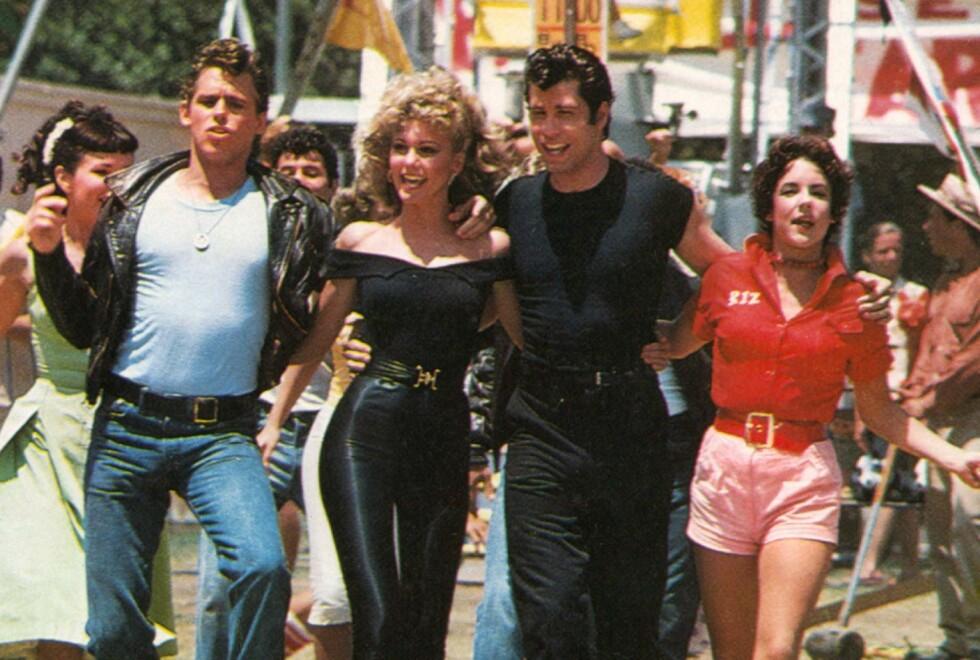 GREASE: Den legendariske filmen fra 1978 er fremdeles populær i dag. Foto: NTB/Moviestore/REX (1596247a) Grease