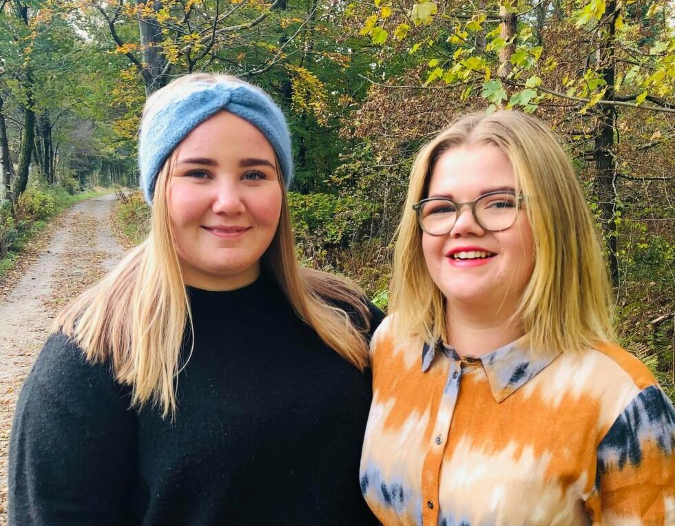 ÅPNE: Tina og Tuva kan snakke åpent om seksualitet og onani, de mener det burde inn som tema i barneskolen. FOTO: SIgne Marie Rølland