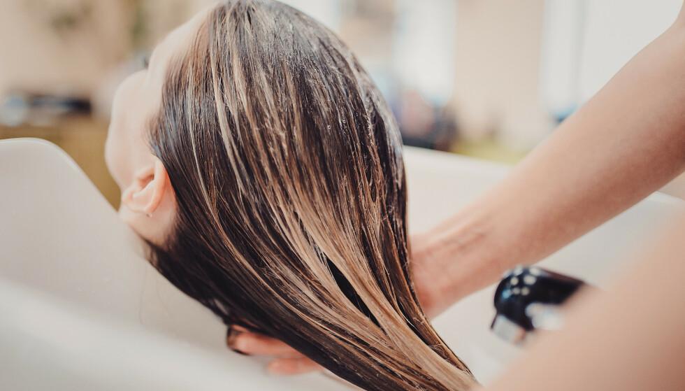 KJEMISK BEHANDLET: Dersom du har kjemisk behandlet hår, kan hårveksten gå sakte fordi håret er slitt - og dermed knekker i tuppene. FOTO: NTB