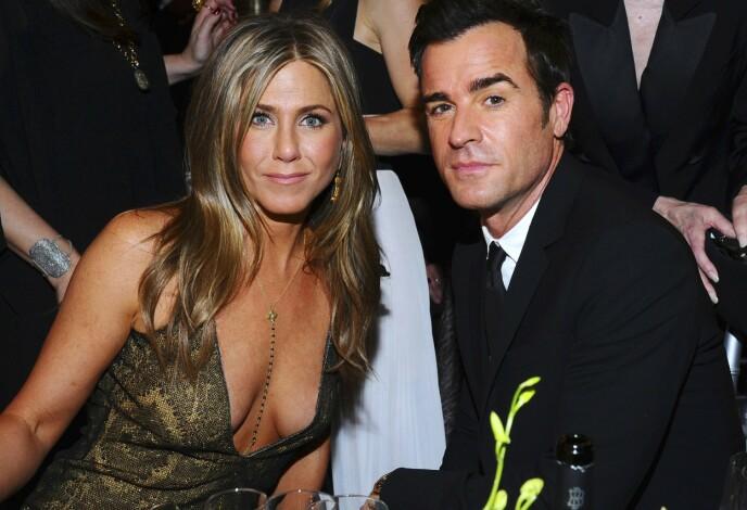 EKSMANNEN: I et intervju med amerikanske ELLE i 2016 fortalte Jennifer Aniston at det var hennes daværende ektemann Justin Theroux som fikk pasta tilbake inn i livet hennes. Dette bildet er fra 2015. FOTO: NTB