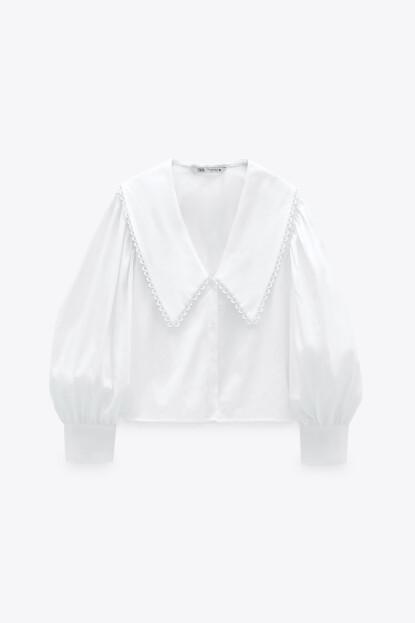 Bluse med stor krage (kr 450, Zara).