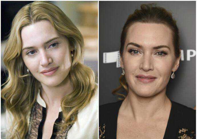 DA OG NÅ: Kate Winslet i 2004 til venstre og i 2018 til høyre. FOTO: NTB