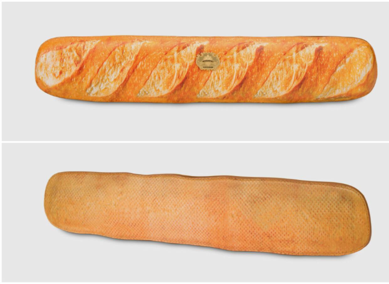 SKINNET BEDRAR: Nei, dette er altså ikke en baguette, men en veske til over 10.000 kroner. FOTO: Skjermdump/Moschino
