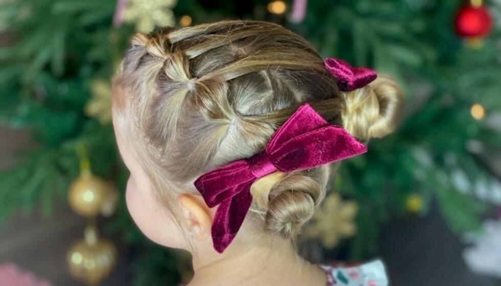 SE SÅ FINT: I videoen i saken viser vi deg hvordan du lager denne supersøte frisyren. Foto: Cecilie Krogh