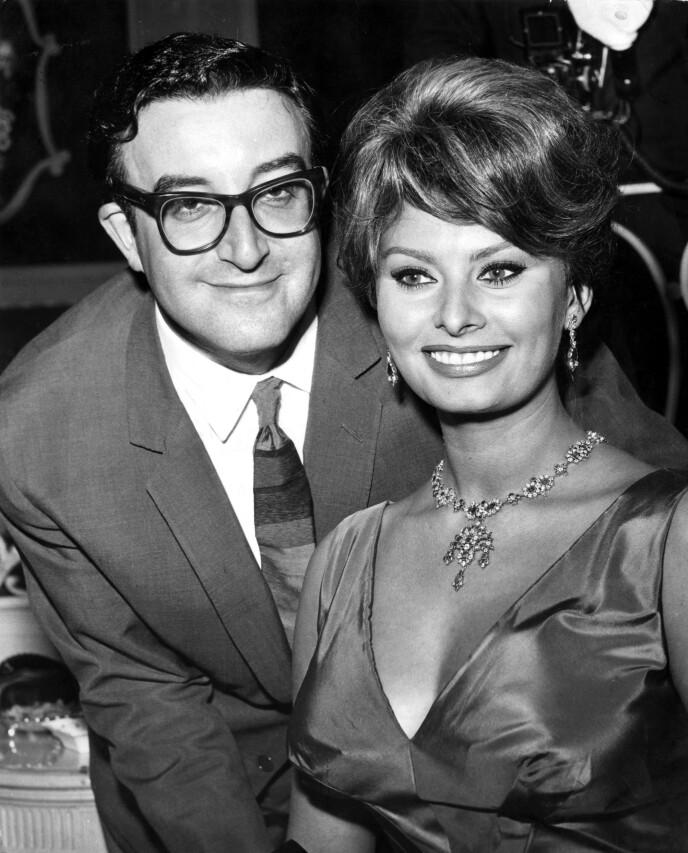 BARE VENNER!: Sophia Loren spilte inn flere humorplater med Peter Sellers på 60-tallet. FOTO: NTB