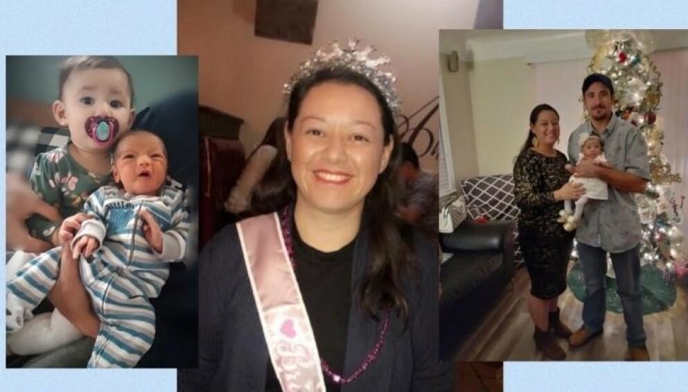 KORONA: Tobarnsmoren Erika Becerra døde bare tre uker etter at hun fødte sønnen Diego. Fra før hadde hun og ektemannen en liten datter. FOTO: Gofundme
