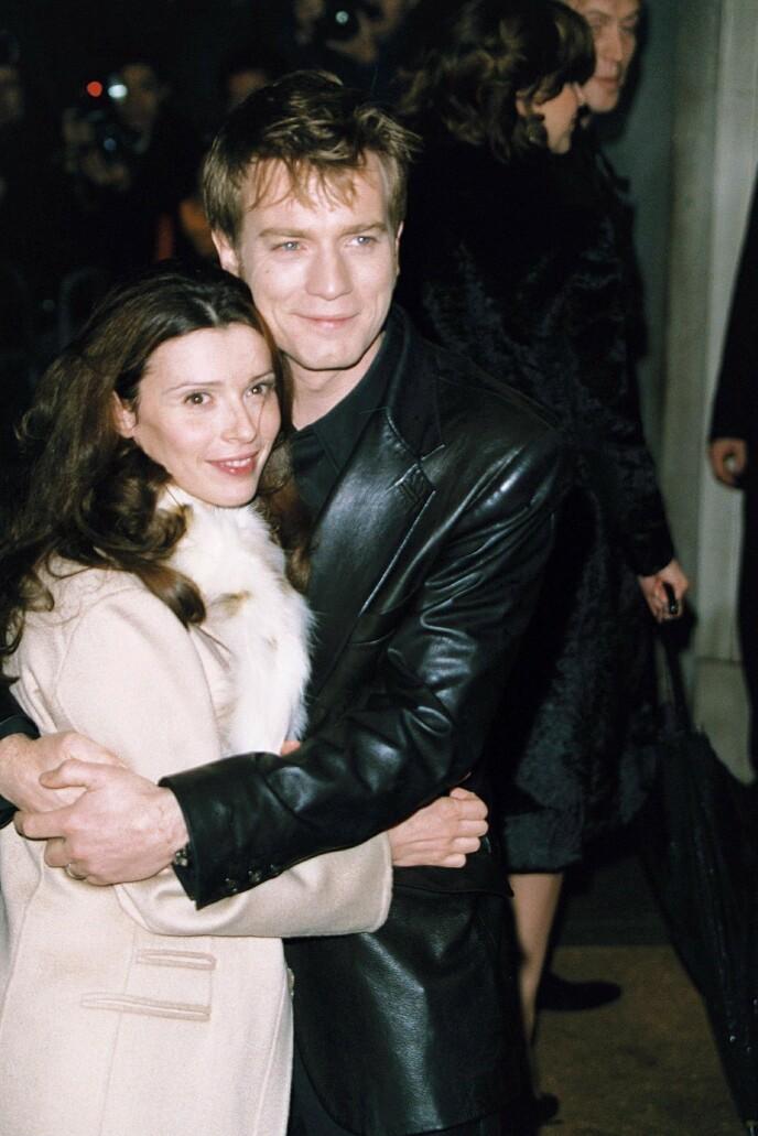GODE DAGER: Ewan McGregor og kona Eve Mavrakis i 2002, to år før motorsykkelturen som skal forandre alt. FOTO: NTB