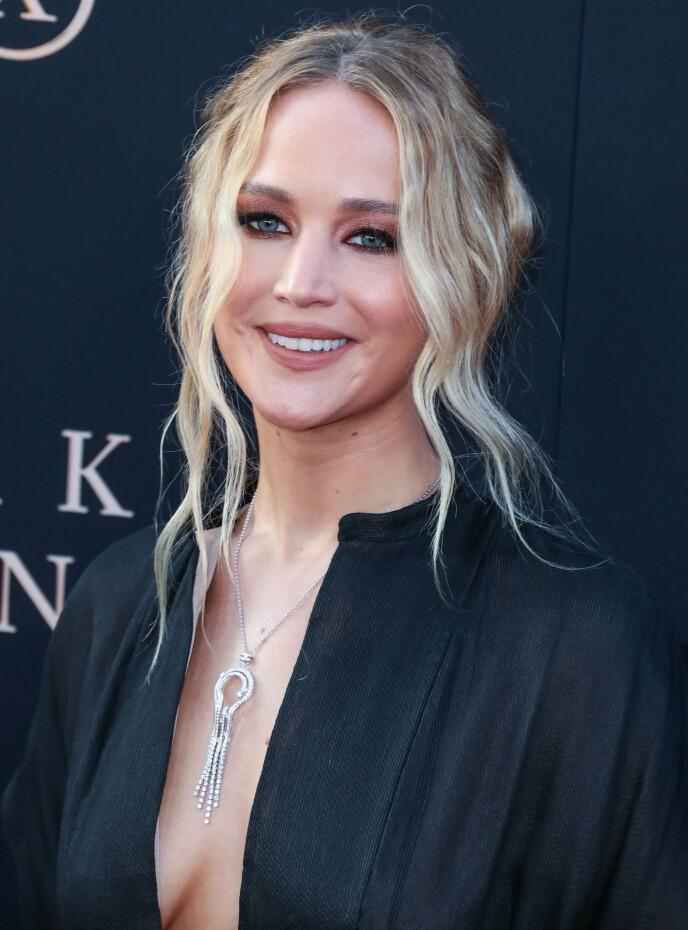 SJOKKERENDE OPPLEVELSE: På et tidspunkt i karrieren fikk Jennifer Lawrence beskjed om å bruke nakenbilder av seg selv som diett-inspirasjon. Foto: NTB