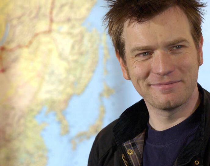 LANGTUR: Ewan McGregor kjørte jorden rundt på motorsykkel, fra London til New York i 2004. Turen skulle blir skjellsettende på mer enn en måte. FOTO: NTB